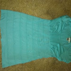 Sophie Max Tops - Sophie Max bandage style teal top